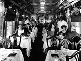 Dining Service on the B&O: Washington Dining Car Lámina fotográfica