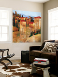 Tuscan Hillside Wall Mural by Keith Mallett