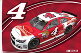 Kevin Harvick One-Sided Flag with Car Flag