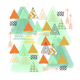 Triangles Posters by Linda Woods