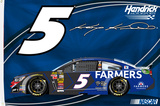 Kasey Kahne One-Sided Flag with Car Flag