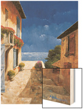 Villa By the Sea Wood Print by Gilles Archambault