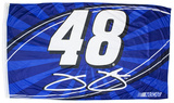 Jimmie Johnson One-Sided Flag with Number Flag