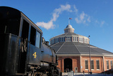 Outside the Historic Roundhouse Photographic Print