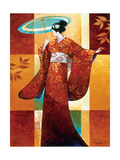 Misaki Metal Print by Keith Mallett