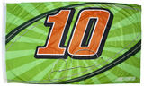 Danica Patrick One-Sided Flag with Number Flag