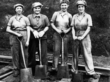 Women of the Rails: Track Work Photographic Print