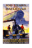 100 Years of the Railroad: the Centenary Pageant Giclee Print