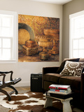 Vintage Elements I Wall Mural by Linda Thompson