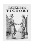 Partners in Victory Giclee Print by Lt. E.A. DeVille