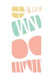 Multi Shapes III Print by Linda Woods
