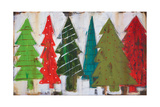 Christmas Trees I Poster by Melissa Lyons