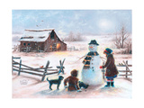 Happy Snowman Prints by Vickie Wade