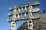 South Gate (Toran) Architraves of the Great Stupa, Sanchi, India, 75-50 Bc Photographic Print