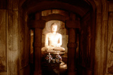 Shrine of Buddha, in a Cave at Sokkuram, Near Kyongju, South Korea Photographic Print