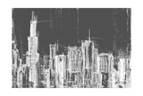 Chicago Skyline B&W Posters by Melissa Lyons