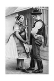 A Young Slovak Couple, Hungary, 1926 Giclee Print by AW Cutler