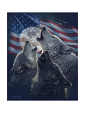Wolf Trinity Patriotic Prints by Collin Bogle