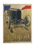 Peugeot Giclee Print by René Vincent