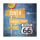 Diner Burgers and Coffee Prints by Linda Woods