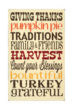 Giving Thanks Posters by Erin Deranja
