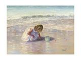 Finding Sea Glass Reproduction giclée Premium par Vickie Wade