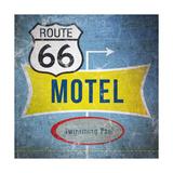 Route66 Motel Kunstdruck von Linda Woods