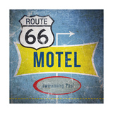 Route66 Motel Print by Linda Woods