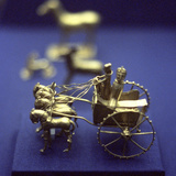 Gold Model Chariot from the Oxus Treasure, Achaemenid Persian, 5th-4th Century BC Photographic Print