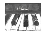 Black and White Piano Poster van Melissa Lyons
