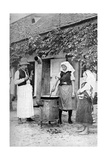 Making Jelly in Czinkota, Hungary, 1922 Giclee Print by AW Cutler