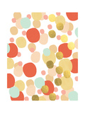 Abstract Painting Mint and Gold Poster von Linda Woods
