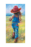 Cowgirl on the Run Prints by Vickie Wade