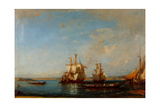 Caiques and Sailboats at the Bosphorus, Second Half of the 19th C Giclee Print by Felix-Francois George Ziem