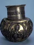 Gilded Silver Jug with Dancing Girls, Sasanian, 5th or 6th Century Photographic Print