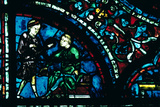 Stained Glass, Chartres Cathedral, Chartres, France Photographic Print