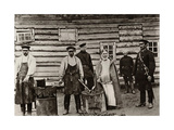 The Chaining of Son'ka the Golden Hand, Sakhalin, Russia, 1890 Giclee Print by Anton Chekhov