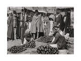 Fruit Market in Baghdad, Iraq, 1925 Giclee Print by A Kerim