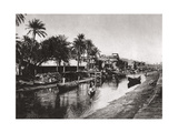 Ashar Creek Leading to the Shatt Al-Arab, Basra, Iraq, 1925 Giclee Print by A Kerim
