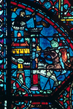 Battle for a City, Stained Glass, Chartres Cathedral, France, C1225 Photographic Print