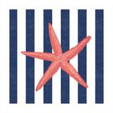 Starfish Stripe Posters by Stephanie Marrott