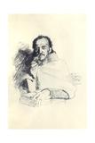 Portrait of the Poet Yakov Polonsky (1820-189), 1896 Giclee Print by Ilya Yefimovich Repin