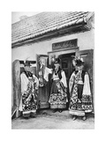 Young Priests in Costume in Rural Hungary, 1926 Giclee Print by AW Cutler