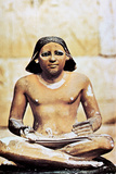 Model of a Seated Scribe, Ancient Egyptian, 5th Dynasty, 2498-2345 Bc Photographic Print