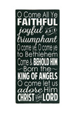 O Come All Ye Faithful Posters by Erin Deranja