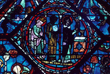Mass of St Giles, Stained Glass, Chartres Cathedral, France, 1194-1260 Photographic Print