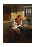 Sunday Rest Giclee Print by Ferdinand Georg Waldmüller