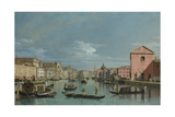 Venice, Upper Reaches of the Grand Canal Facing Santa Croce, 1740s Giclee Print by Bernardo Bellotto