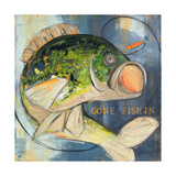 Bass Fishing Poster by Melissa Lyons
