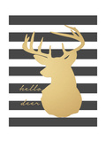 Hello Deer Prints by Jo Moulton